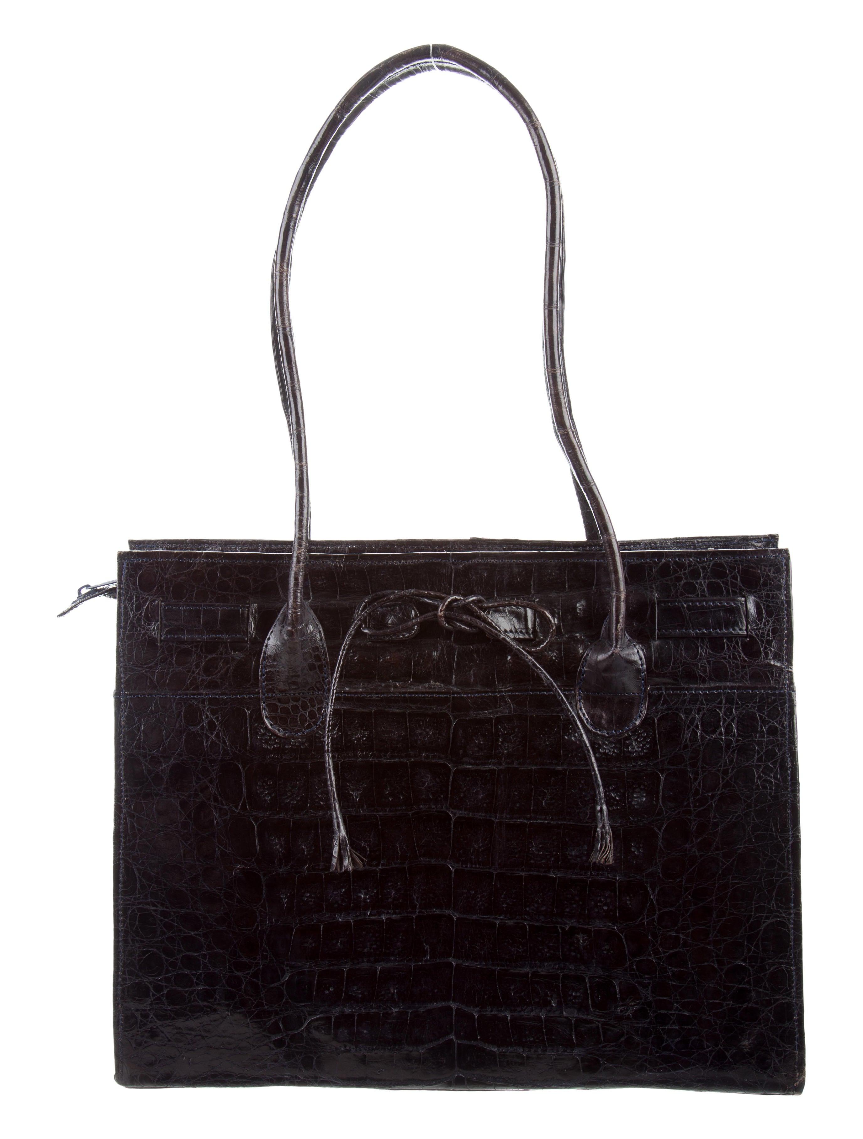 Nancy gonzalez crocodile tote handbags nan24335 the for Nancy gonzalez crocodile tote