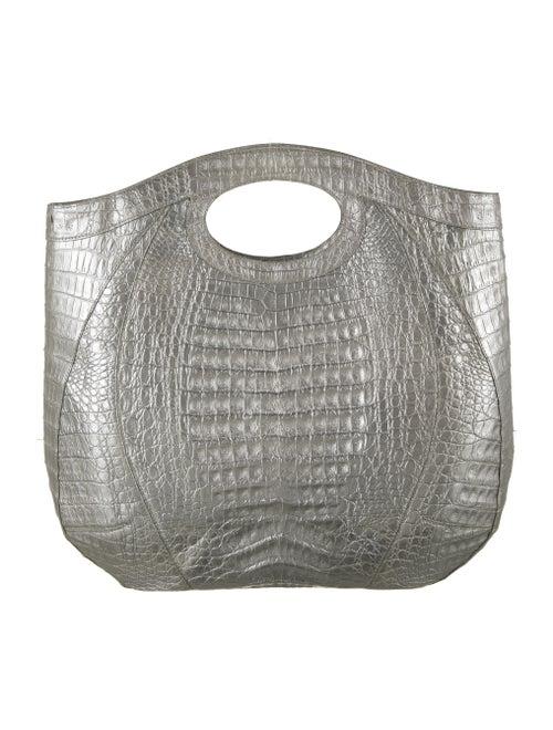 Nancy Gonzalez Metallic Crocodile Tote Metallic