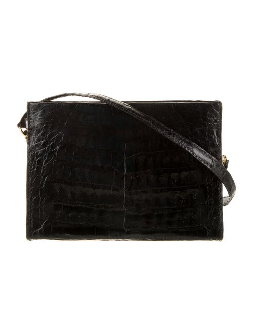 Nancy Gonzalez Crocodile Crossbody Bag Black