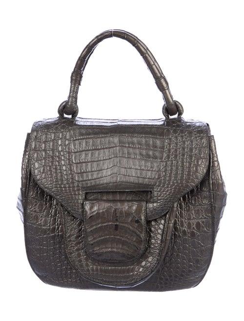 Nancy Gonzalez Metallic Crocodile Handle Bag Metal