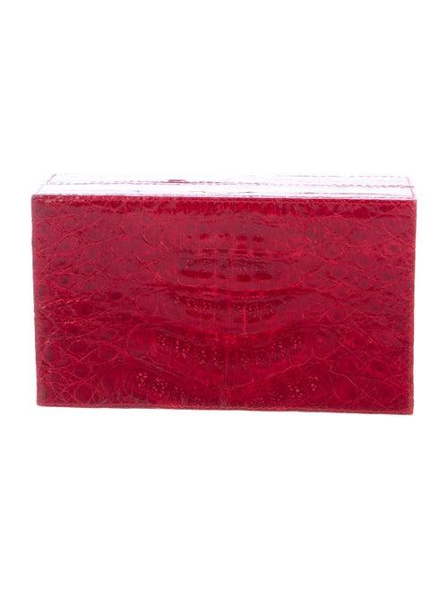 Nancy Gonzalez Small Crocodile Box Clutch Red