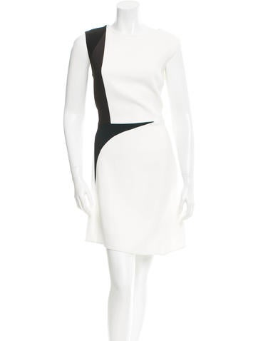 Narciso Rodriguez Crepe Colorblock Dress None
