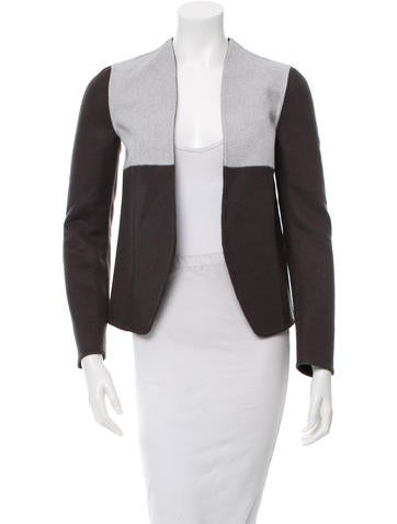Narciso Rodriguez Wool Colorblock Open Front Jacket w/ Tags None