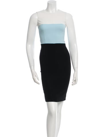 Narciso Rodriguez Colorblock Sheath Dress None