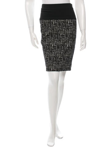 Narciso Rodriguez Patterned Pencil Skirt None