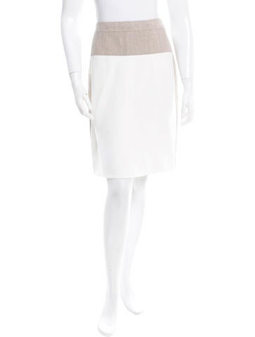 Narciso Rodriguez Colorblock Knee-Length Skirt None