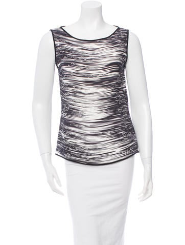 Narciso Rodriguez Printed Sleeveless Top None