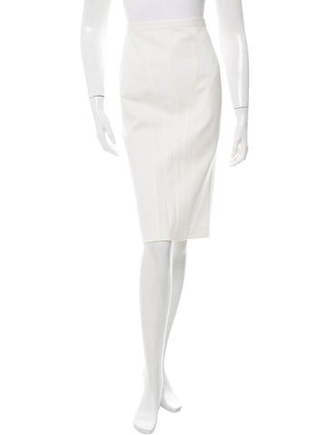 Narciso Rodriguez Textured Pencil Skirt None