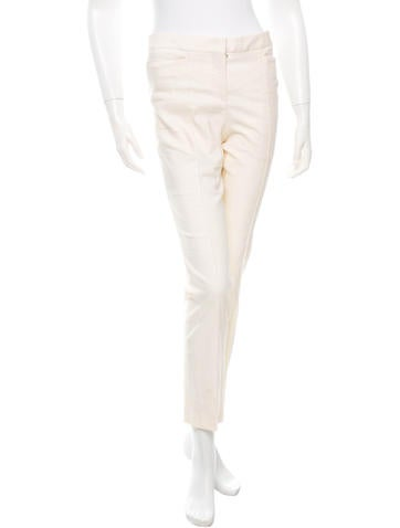 Narciso Rodriguez Mid-Rise Straight-Leg Pants None