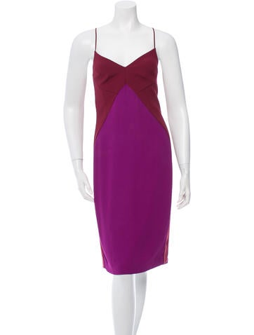 Narciso Rodriguez Colorblock V-Neck Dress None