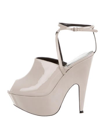 Narciso Rodriguez Patent Leather Platform Sandals None