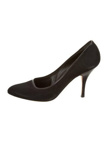 Narciso Rodriguez Canvas Pointed-Toe Pump None