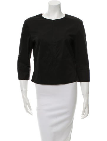 Narciso Rodriguez Black Long Sleeve Top None