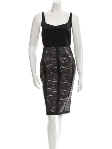 Narciso Rodriguez Wool Sheath Dress None