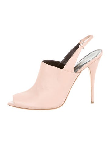 Narciso Rodriguez Leather Cindy Slingback Pumps None
