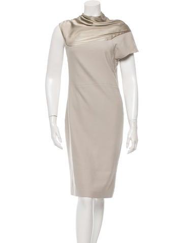 Narciso Rodriguez Draped Wool Dress None