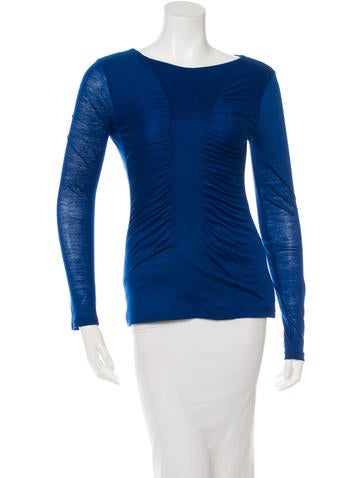 Narciso Rodriguez Pleated Wool Top None