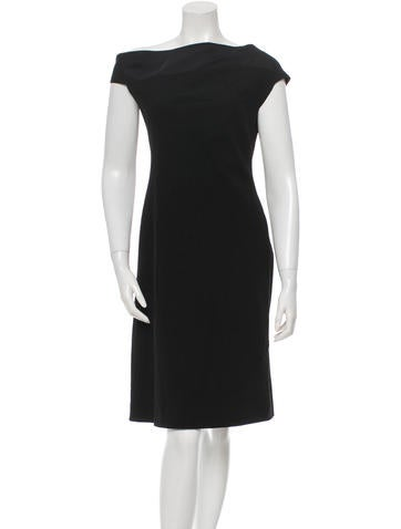 Narciso Rodriguez Patterned Wool Dress None