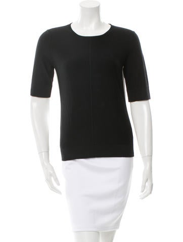 Narciso Rodriguez Wool & Silk Knit Top None