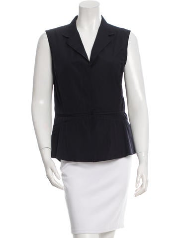 Narciso Rodriguez Sleeveless Button-Up Top None