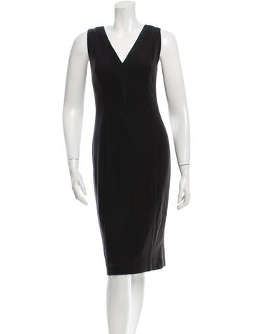 Narciso Rodriguez Sleeveless Wool Sheath Dress None