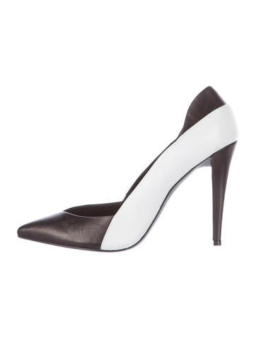 Narciso Rodriguez Colorblock Leather Pumps None