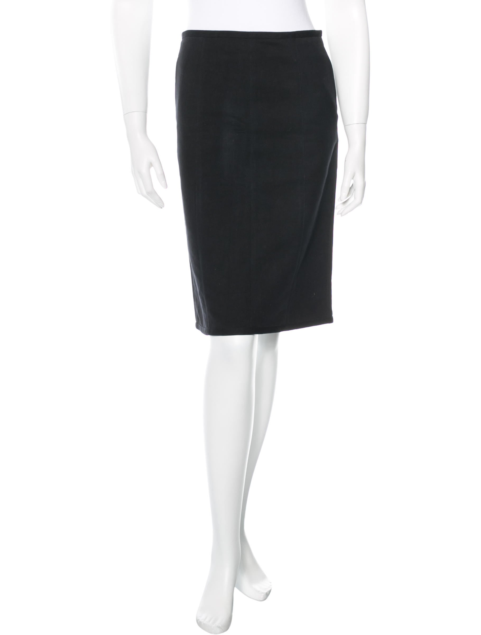 narciso rodriguez knee length pencil skirt clothing