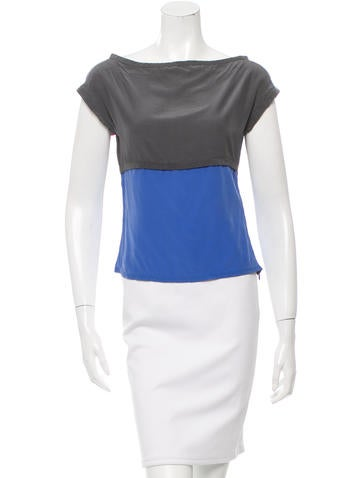 Narciso Rodriguez Silk Colorblock Top None