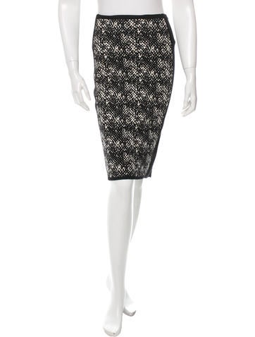 Narciso Rodriguez Knit Wool Pencil Skirt None