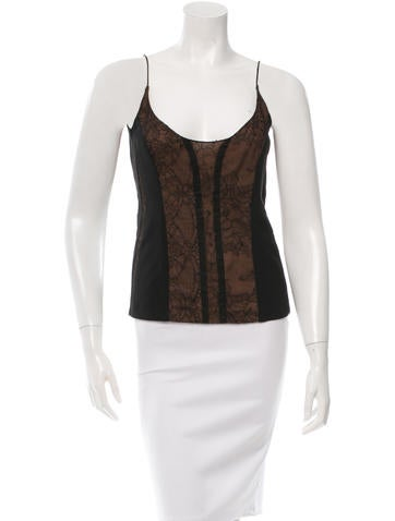Narciso Rodriguez Sleeveless Lace-Accented Top None