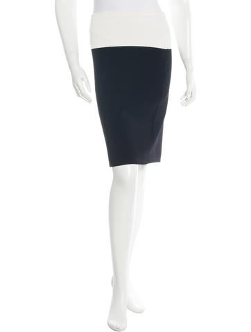 Narciso Rodriguez Two-Tone Pencil Skirt None