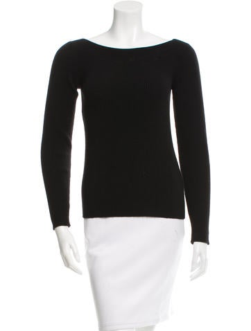 Narciso Rodriguez Bateau Neck Rib Knit Sweater None