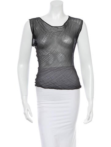 Narciso Rodriguez Sleeveless Sheer Top None