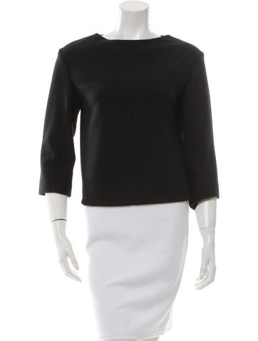 Narciso Rodriguez Wool Long Sleeve Top None