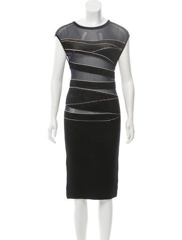 Narciso Rodriguez Sleeveless Rib Knit Dress None