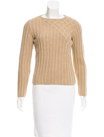 Narciso Rodriguez Wool Rib Knit Sweater None