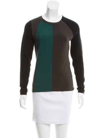Narciso Rodriguez Wool-Blend Colorblock Sweater None