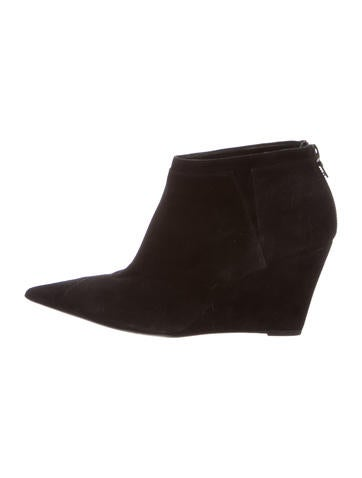 Narciso Rodriguez Suede Pointed-Toe Booties None