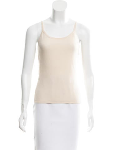 Narciso Rodriguez Sleeveless Cashmere Top None