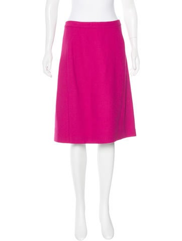 Narciso Rodriguez Wool Knee-Length Skirt None