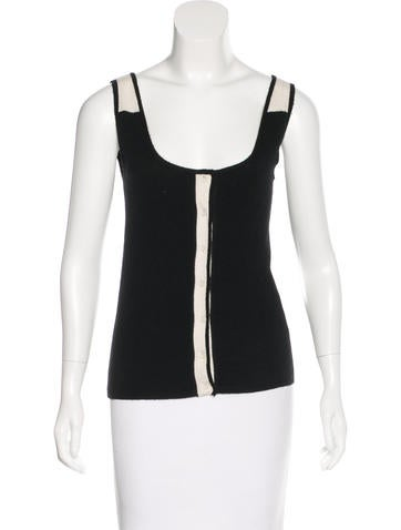Narciso Rodriguez Cashmere Sleeveless Top None