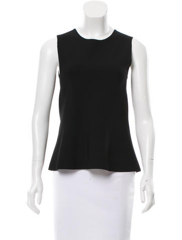 Narciso Rodriguez Crew Neck Flounce Top None