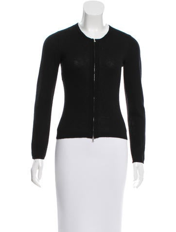 Narciso Rodriguez Knit Crew Neck Cardigan None
