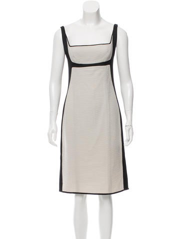 Narciso Rodriguez Rib Knit Wool Dress None