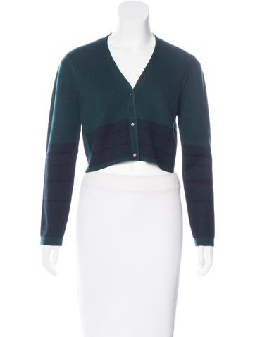 Narciso Rodriguez Wool & Silk-Blend Cropped Cardigan w/ Tags None