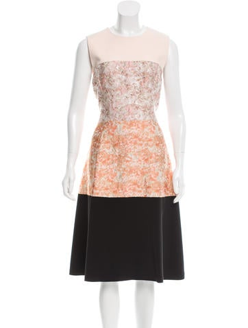 Narciso Rodriguez Brocade Midi Dress None