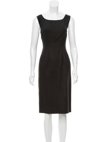 Narciso Rodriguez Wool Knee-Length Dress None
