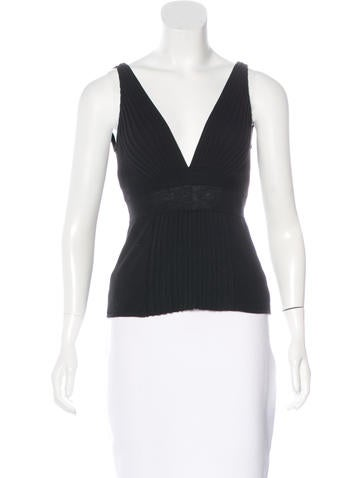 Narciso Rodriguez Rib Knit Sleeveless Top None