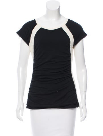 Narciso Rodriguez Wool Colorblock Top