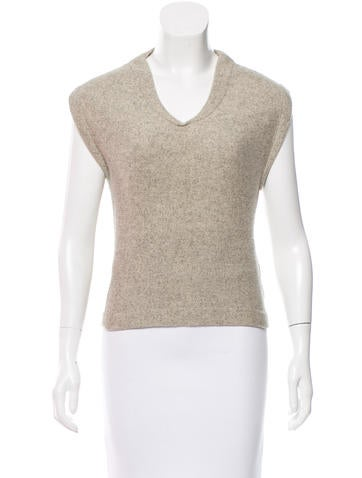 Narciso Rodriguez Cap Sleeve Yak & Wool-Blend Sweater None